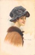 """04643 """"RITRATTO FEMMINILE"""" LIBERTY -  FIRMATA PITTRICE M. LAZZARA.  CART  SPED 1919 - Moda"""