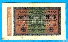 REICHSBANKNOTE 1923   **ZWANZIGTAUSEND MARK ** - [ 3] 1918-1933 : République De Weimar