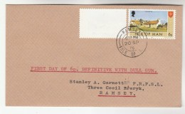 1976 ISLE OF MAN Stamps  MAN FDC Of 6p DEFINITIVE WITH DULL GUM Cover - Isle Of Man