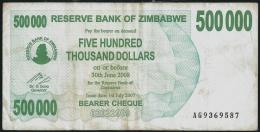 Zimbabwe 500000 Dollars 2007 P 51 ( Zimbabue  ) - Zimbabwe