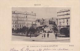 BREST 29 JARDIN DE LA PLACE DU CHATEAU BELLE CARTE RARE !!! - Brest