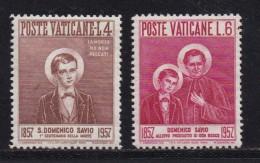 VATICAN, 1957, Unused Hinged Stamp(s), Dominica SAVO,  Mi 266=269, #4190, 2 Values Only - Unused Stamps