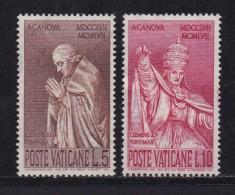 VATICAN, 1958, Unused Hinged Stamp(s), Pope Clemens VIII,  Mi 296=299, #4194, 2 Values Only - Unused Stamps