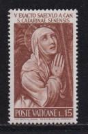 VATICAN, 1962, Unused Hinged Stamp(s), Katharina Van Siena,  Mi 402, #4231, 1 Value  Only - Vatican