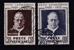 VATICAN, 1959, Used Stamp(s), Pope Pius XI,  Mi 313-314, #4197, Complete - Vatican