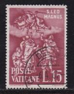 VATICAN, 1961, Used Stamp(s), Pope Leo I,  Mi 366=368, #4211, 1 Value - Vatican