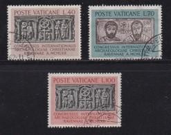 VATICAN, 1962, Used Stamp(s), Christian Congress,  Mi 408=411, #4237, 3 Values - Vatican