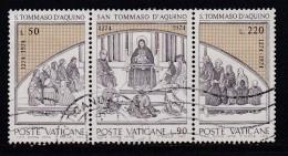 VATICAN, 1974, Used Stamp(s), Thomas Von Aquin,  Mi 640-642, #4274, Complete - Vatican