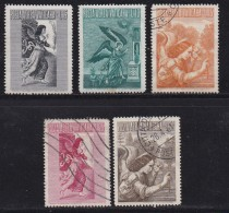 VATICAN, 1956, Mixed Stamp(s), Air Stamps,  Mi 241=249, #4186,  5 Values Only - Used Stamps