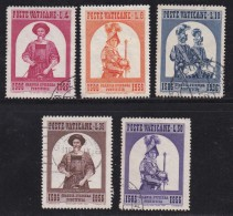 VATICAN, 1956, Mixed Stamp(s), Swiss Guards,  Mi 250=255, #4187,  5 Values Only - Used Stamps