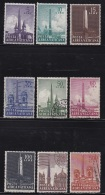 VATICAN, 1959, Mixed Stamp(s), Roman Obelisks,  Mi 317=326, #4198,  9 Values Only - Used Stamps