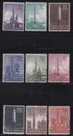 VATICAN, 1959, Mixed Stamp(s), Roman Obelisks,  Mi 317=326, #4198,  9 Values Only - Vatican