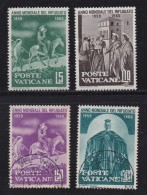 VATICAN, 1960, Mixed Stamp(s), World Refugee Year,  Mi 338=343, #4201,  4 Values Only - Used Stamps