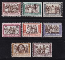 VATICAN, 1960, Mixed Stamp(s), Delia Robbia Paintings,  Mi 347-356, #4202,  Complete - Used Stamps