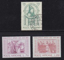 VATICAN, 1975, Mixed Stamp(s), First Library,  Mi 667-669, #4282, Complete - Vatican