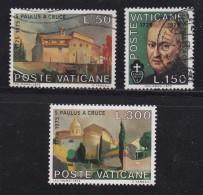 VATICAN, 1975, Mixed Stamp(s), Paul Vom Kreuz,  Mi 672-674, #4283, Complete - Vatican