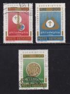 VATICAN, 1976, Mixed Stamp(s), Congress Philadelphia,  Mi 680-682, #4300, Complete - Vatican