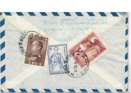 Greece Cover Scott #552 591 595 Argos 1956 To USA Fine - Storia Postale