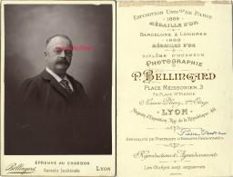 Grand CDV (cab)  Pierre TRESCA Vers 1889-soieries Lyonnaises? Photo Bellingrand à Lyon - Old (before 1900)