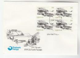 1982 FAROES SIGNED FDC Multi KVIVIK Stamps FAROE ISLANDS Cover - Faroe Islands