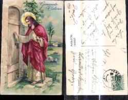 144805,Künstler Ak Jesus Christus Klopft A. Tür Gesegnete Ostern Religion - Christendom