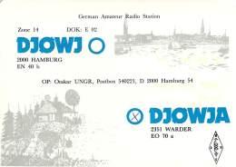 Amateur Radio QSL Card - DJ0WJA - Hamburg, Germany - 1978 - 2 Scans - Radio Amateur