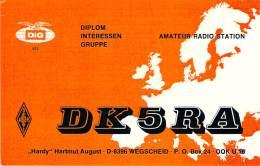 Amateur Radio QSL Card - DK5RA - Germany - 1977 - 2 Scans - Radio Amateur