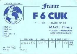 Amateur Radio QSL Card - F6CUK - France - 1978 - Radio Amateur