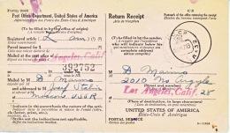 U.S. POSTAL  HISTORY  A. R. CARD  (RETURN RECEIPT)  To  JOSEF  STALIN  1947 - United States