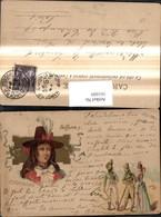 161609,Künstler Ak Russische Revulotion Männer Frau Mode Hut Hutmode - Geschichte