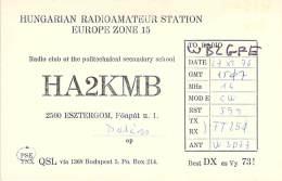 Amateur Radio QSL Card - HA3KMB - Hungary - 1976 - Radio Amateur