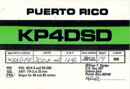Amateur Radio QSL Card - KP4DSD - Sabana Seca, Puerto Rico - 1977