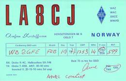 Amateur Radio QSL Card - LA8CJ - Norway - 1977 - Radio Amateur
