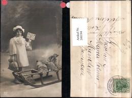 249194,Weihnachten Mädchen M. Mantel Haube Geldsäcke Schlitten Brief Pub EAS 3765/3 - Non Classificati