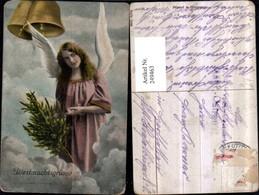 249463,Weihnachten Engel M. Tannenbaum Glocken Wolken - Engel