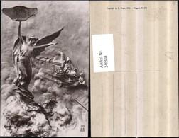 249503,Künstler AK Engel Mann M. Stock Lokomotive - Engel