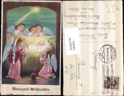 249465,Weihnachten Jesuskind Christus In D. Krippe Engeln B. Beten Sternschnuppe Weih - Engel