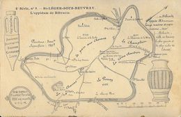 Carte Géographique De L'Oppidum De Bibracte - St-Leger-sous-Beuvray - Carte Non Circulée - Mapas