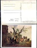 178200,Künstler Ak Zweirädriger Gedeckter Wagen M. Reisenden U. Tragtieren V. Räubern - Post & Briefboten