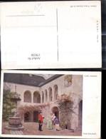 178220,Künstler Ak Carl Probst Frohe Botschaft Briefträger I. Hof M. Frauen Post Post - Post & Briefboten