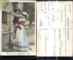 178260,Frau M. Kind B. Briefkasten Postkasten Post Postwesen Comme Ca Ca Ca Tout Seul - Post & Briefboten