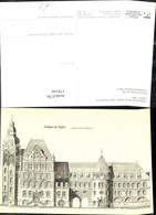 178166,Künstler Ak Bauzeichnung Postgebäude Berlin Steglitz Postamt Post Postwesen - Post & Briefboten
