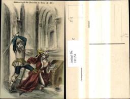 181154,Künstler Ak Assassinat De Charles Le Bon 1126 - Geschichte