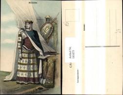 181075,Künstler Ak Richilde Frau Krone Rüstung Ritter I. Hintergrund - Geschichte