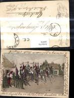 180978,Künstler Ak Jizda Kralu Na Morave Reiter I. Volkstracht Typen - Geschichte