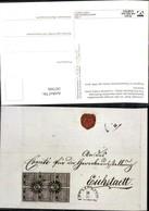 187306,Eichstätt Brief M. Einzigen Gestempelten Sechserblock D. Ersten Bayrischen Bri - Post & Briefboten