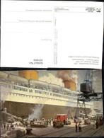 187450,Künstler Ak A. Kircher Postverkehr Deutschland USA Dampfer Bremen Um 1935 Schi - Post & Briefboten