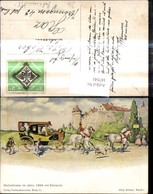 187541,Künstler Ak Hochzeitsreise I. Jahre 1840 M. Extrapost Postkutsche Post Postwes - Post & Briefboten