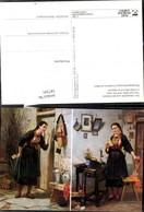 187341,Künstler Ak C. Hübner Der Liebesbrief U. D. Antwort Post Postwesen Lesen - Post & Briefboten