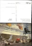 187308,Künstler Ak A. Kircher Postverkehr Deutschland USA Dampfer Bremen Um 1935 Schi - Post & Briefboten